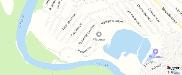Попутная улица на карте Красноречия с номерами домов
