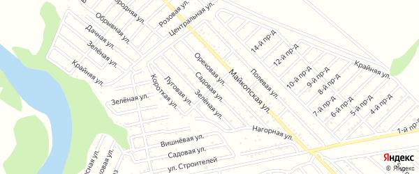 Садовая улица на карте Коммунальника с номерами домов