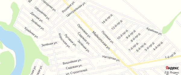 Ореховая улица на карте Коммунальника с номерами домов
