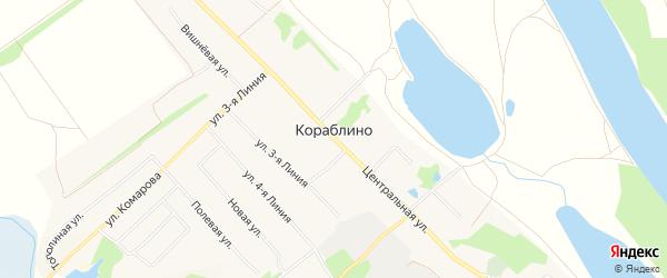 Карта села Кораблино в Рязанской области с улицами и номерами домов