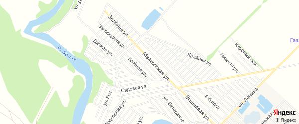 Территория днт Коммунальник на карте Майкопа с номерами домов
