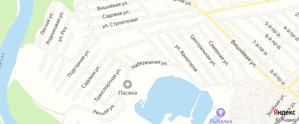 Набережная улица на карте Селекционера с номерами домов