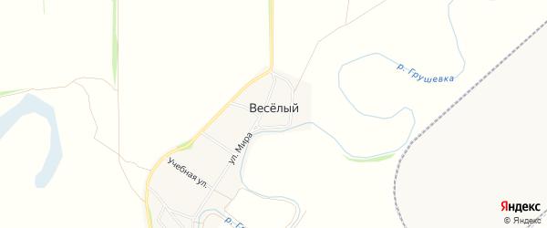 Карта Веселого хутора в Ростовской области с улицами и номерами домов