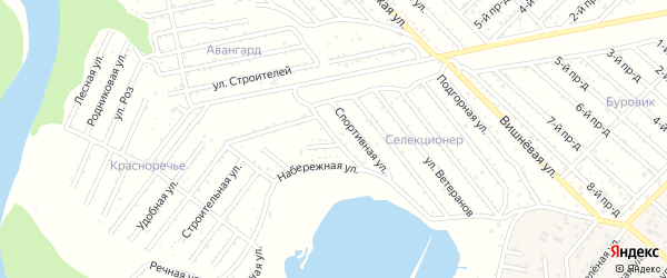 Профсоюзная улица на карте Селекционера с номерами домов