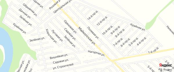 Майкопская улица на карте Коммунальника с номерами домов