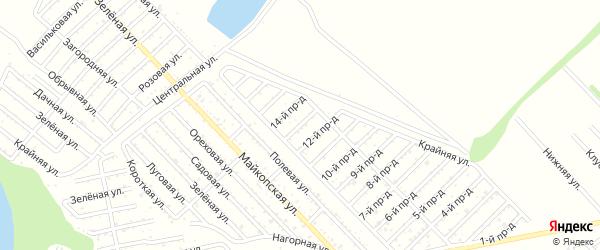 13-й проезд на карте Проектировщика с номерами домов