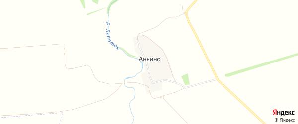 Карта поселка Аннино в Рязанской области с улицами и номерами домов