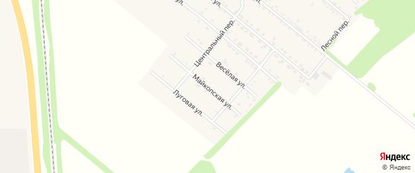 Майкопская улица на карте Родникового поселка с номерами домов