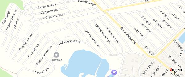 Улица Авиаторов на карте Селекционера с номерами домов