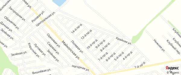 11-й проезд на карте Буровика с номерами домов