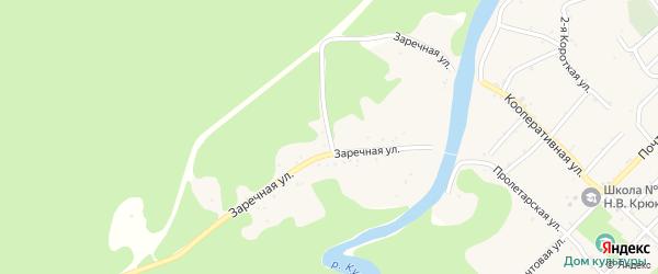Заречная улица на карте Дагестанской станицы Адыгеи с номерами домов