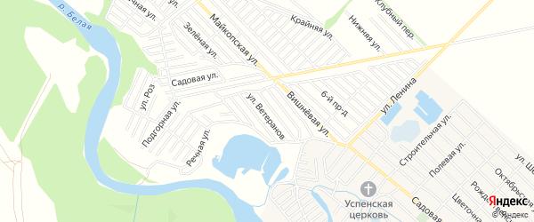 Территория днт Селекционер на карте Майкопа с номерами домов