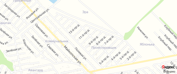 10-й проезд на карте Проектировщика с номерами домов