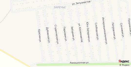 Парковая улица в Чаплыгине с номерами домов на карте. Спутник и схема онлайн