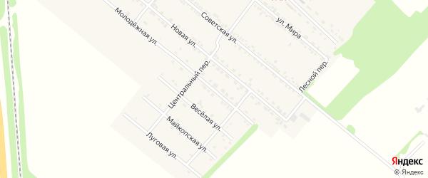 Молодежная улица на карте Родникового поселка с номерами домов
