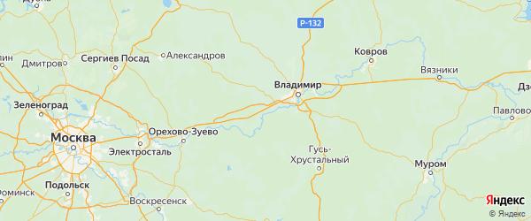 Карта Собинского района Владимирской области с городами и населенными пунктами