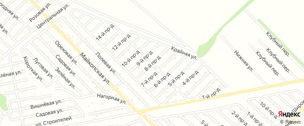 8-й проезд на карте Проектировщика с номерами домов