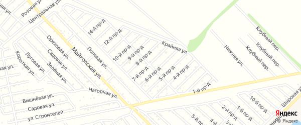 7-й проезд на карте Проектировщика с номерами домов