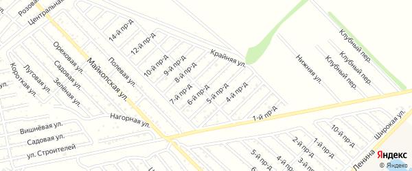 6-й проезд на карте Проектировщика с номерами домов