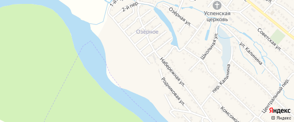 9-й переулок на карте Озерного с номерами домов