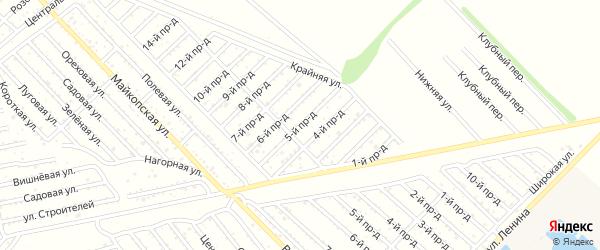 5-й проезд на карте Проектировщика с номерами домов