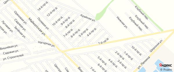 4-й проезд на карте Проектировщика с номерами домов