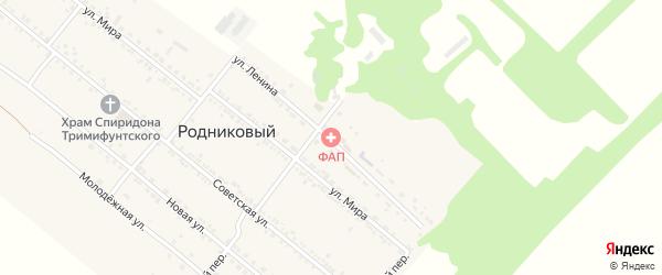 Улица Ленина на карте Родникового поселка с номерами домов