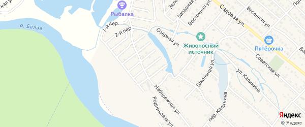 Земляничная улица на карте Озерного с номерами домов