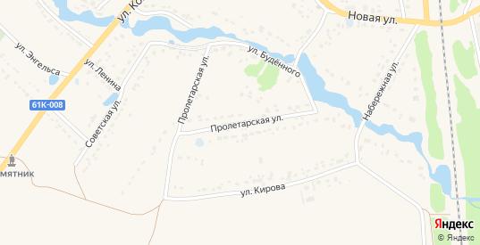 Пролетарская улица в Кораблино с номерами домов на карте. Спутник и схема онлайн