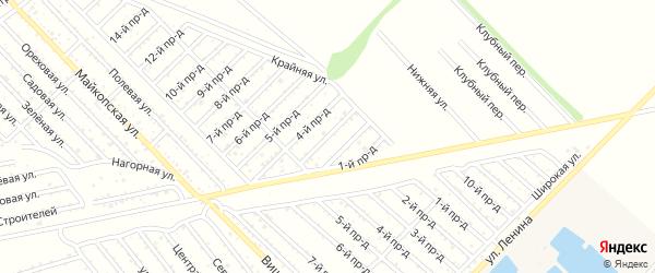 3-й проезд на карте Проектировщика с номерами домов