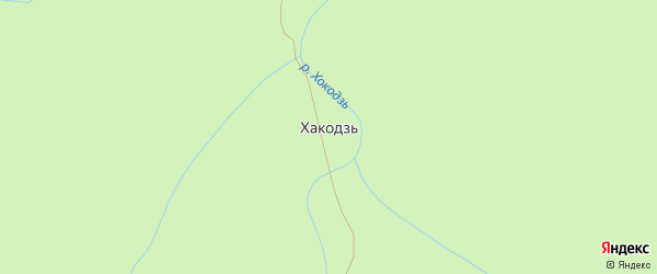 Широкая улица на карте поселка Хакодзи Адыгеи с номерами домов