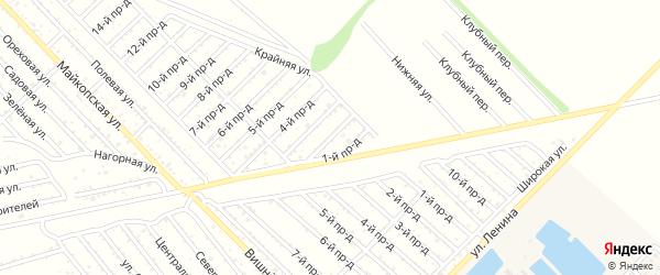 2-й проезд на карте Проектировщика с номерами домов