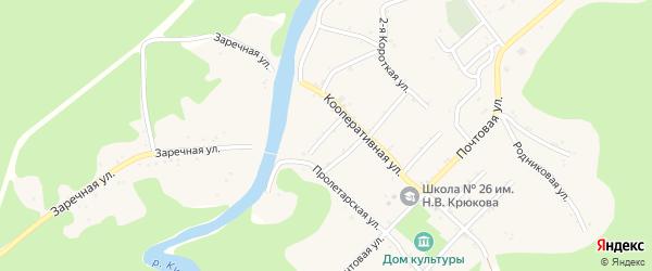 Красная улица на карте Дагестанской станицы Адыгеи с номерами домов