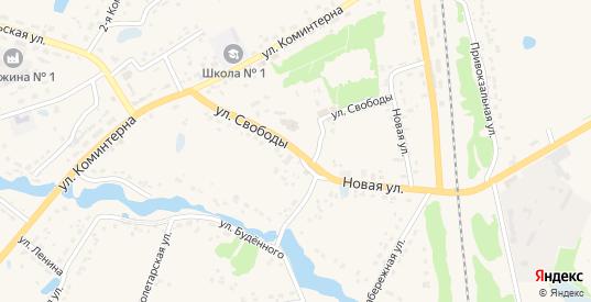 Улица Свободы в Кораблино с номерами домов на карте. Спутник и схема онлайн