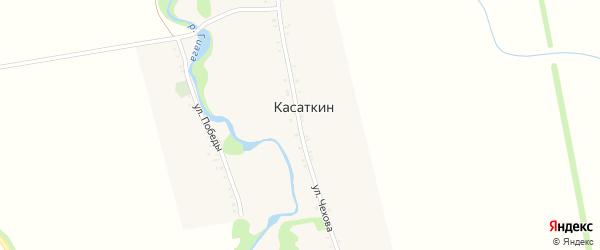Улица Чехова на карте хутора Касаткина Адыгеи с номерами домов