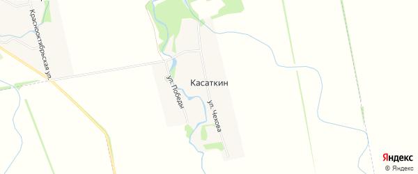 Карта хутора Касаткина в Адыгее с улицами и номерами домов