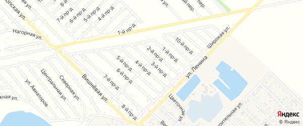 3-й проезд на карте садового некоммерческого товарищества Буровика с номерами домов