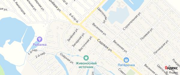 Восточная улица на карте Гавердовского хутора с номерами домов