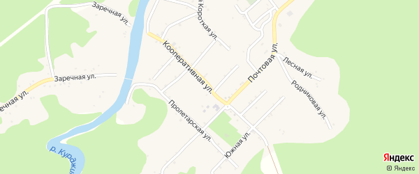 Кооперативная улица на карте Дагестанской станицы с номерами домов