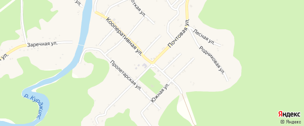 Почтовая улица на карте Дагестанской станицы Адыгеи с номерами домов