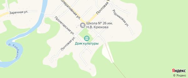 Южная улица на карте Дагестанской станицы Адыгеи с номерами домов
