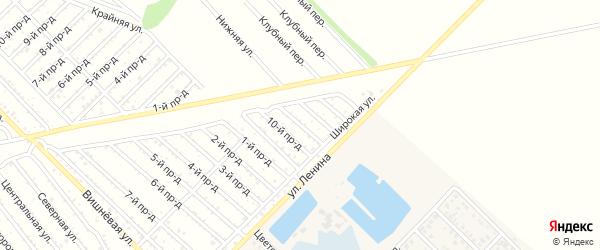 11-й проезд на карте садового некоммерческого товарищества Буровика с номерами домов