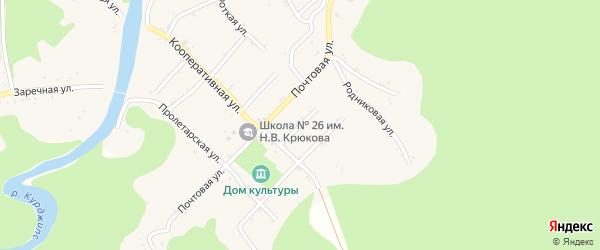 Пионерская улица на карте Дагестанской станицы Адыгеи с номерами домов