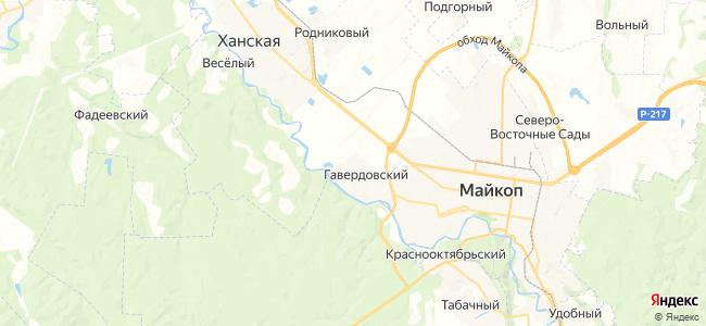 Гавердовский на карте