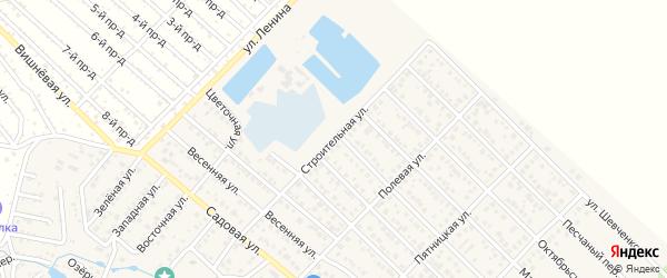 Строительная улица на карте Гавердовского хутора с номерами домов