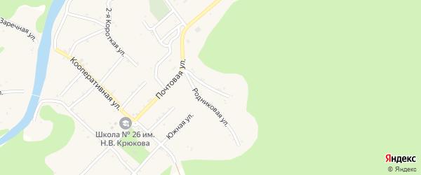 Лесная улица на карте Дагестанской станицы Адыгеи с номерами домов