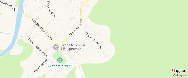 Родниковая улица на карте Дагестанской станицы Адыгеи с номерами домов