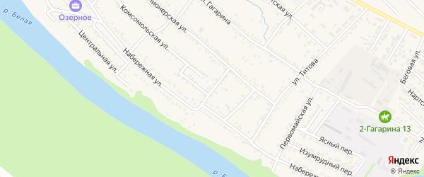 Пионерский переулок на карте Гавердовского хутора с номерами домов