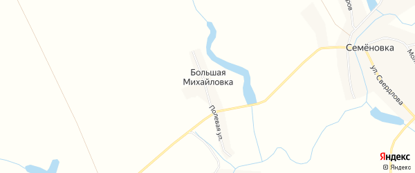 Карта поселка Большей Михайловки в Воронежской области с улицами и номерами домов