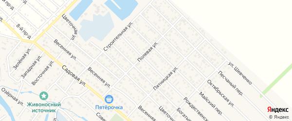 Рождественская улица на карте Гавердовского хутора с номерами домов